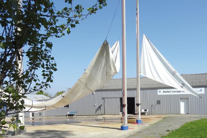 Lavage de voiles Crach Morbihan