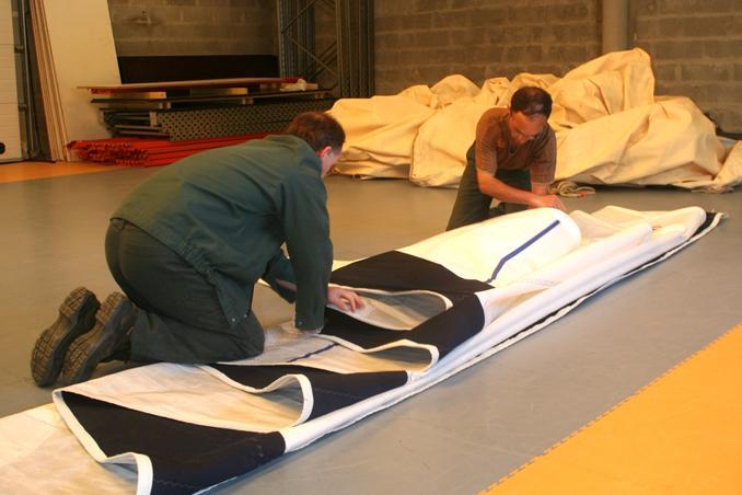 Pliage de voiles Crach Morbihan